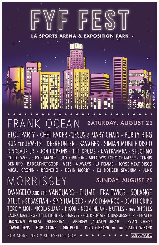 FYF Fest 2015 Line up
